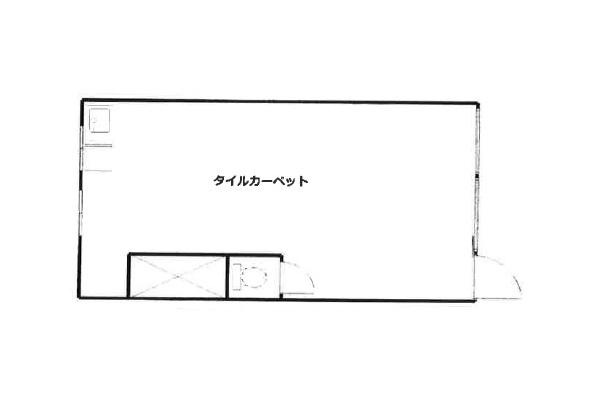 阪東橋の物件の間取り図
