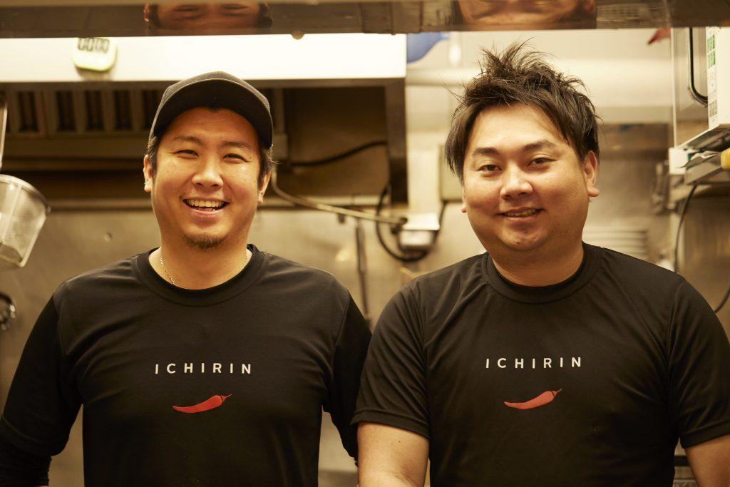 辛麵屋「一輪(ICHIRIN)」の大牟田真之介さん(左)と 長谷匡浩さん(右)