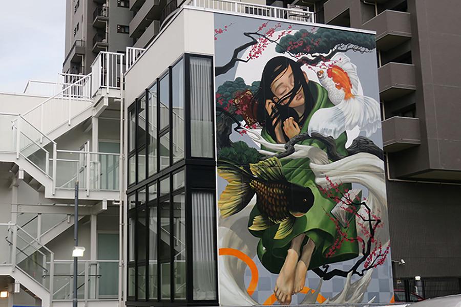 2019年12月より稼働した「武相庵」は壁画が目を引く