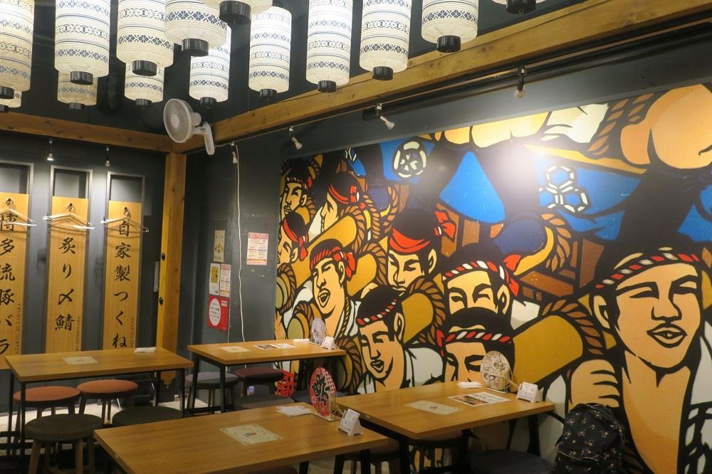 銀座店は夜に「博多屋大吉」という居酒屋で営業